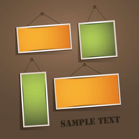 Empty frames on the wall Stock Vector - 13278909