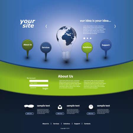 Sito Web Template Vettoriali