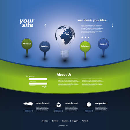 web browsing: Website Template