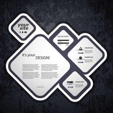 square shape: Website template Illustration