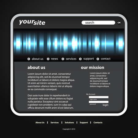 Website template Stock Vector - 13301560