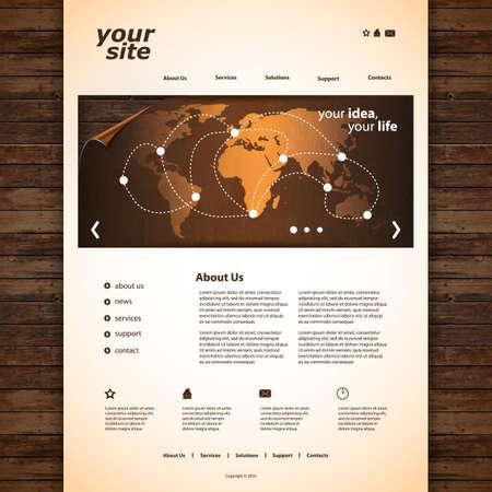 Website template Stock Vector - 13301570