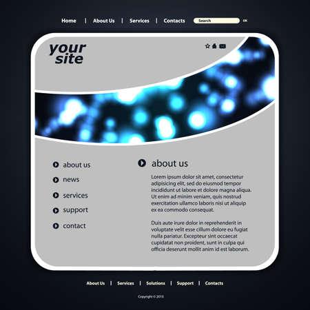 Website template Stock Vector - 13278895