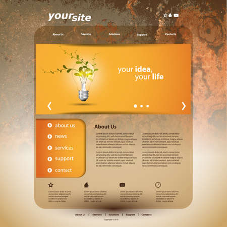 banner design: Website template Illustration