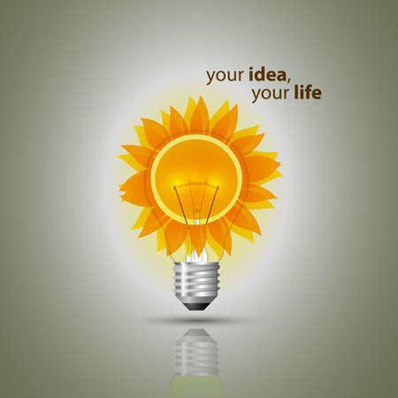 поколение: Концепция Eco лампы Иллюстрация