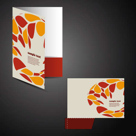 Corporate folder with die cut design Stock Vector - 13501891