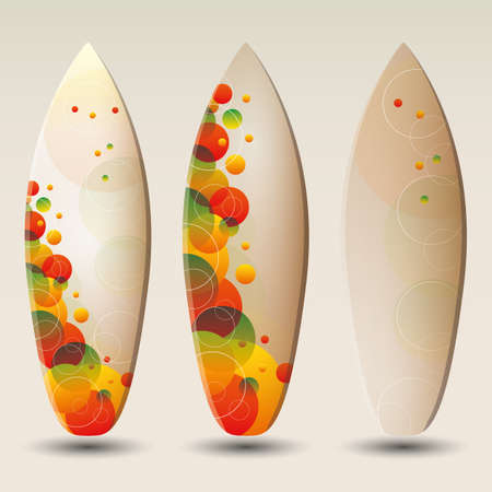 Surfboards Design Vector