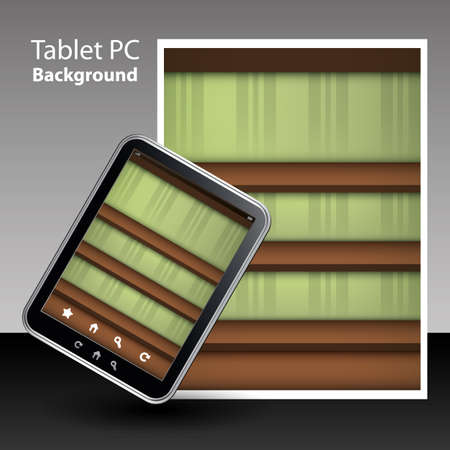 Tablet PC Background Vector