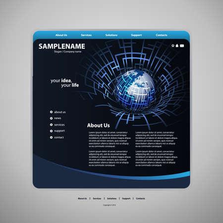 website background: Website template Illustration