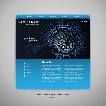 Website template Stock Vector - 13501890