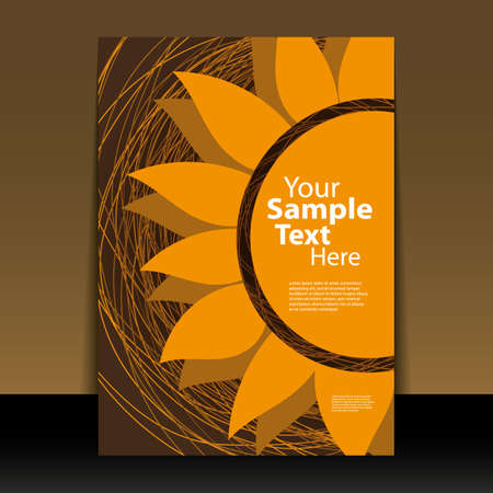 sunflowers: Flyer or cover design