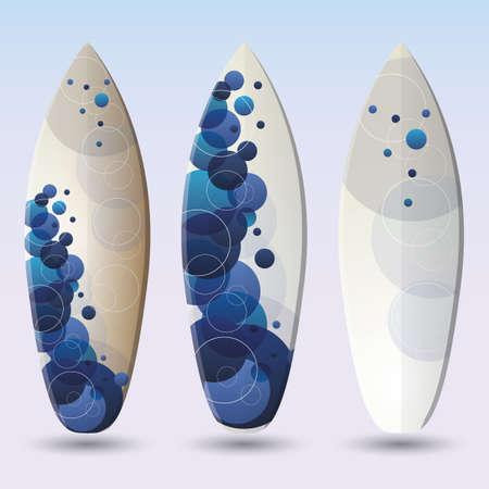 Illustration Surfboards Design Vector