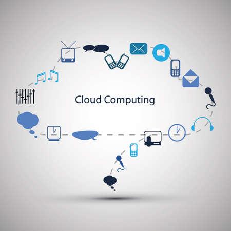 workflow: Design Cloud concept d'informatique