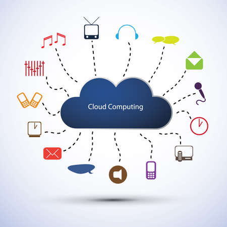 Cloud computing concept Stock Vector - 13661425