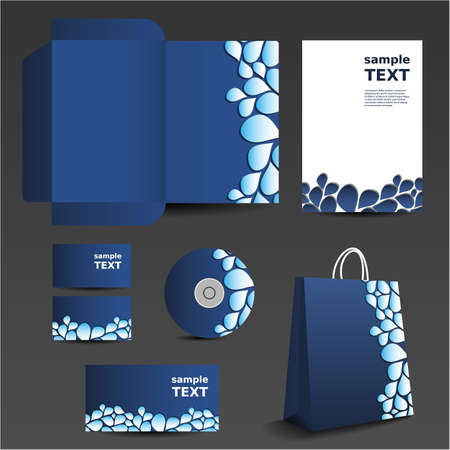 Stationery template design - business set Vector