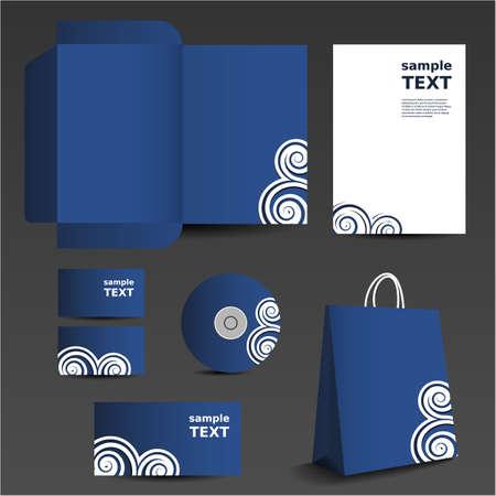 membrete: Papel de diseño de la plantilla - conjunto de negocios