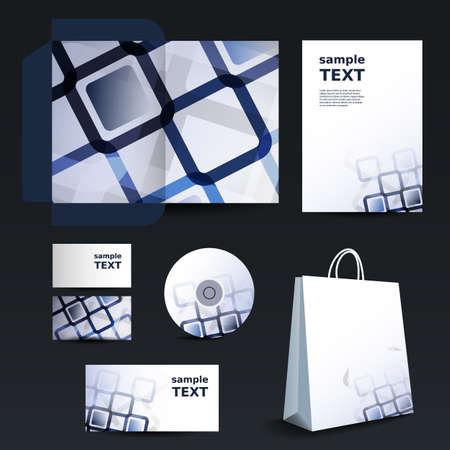cd label: Stationery template design - business set