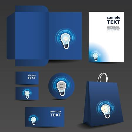 blank brochure: Stationery template design - business set