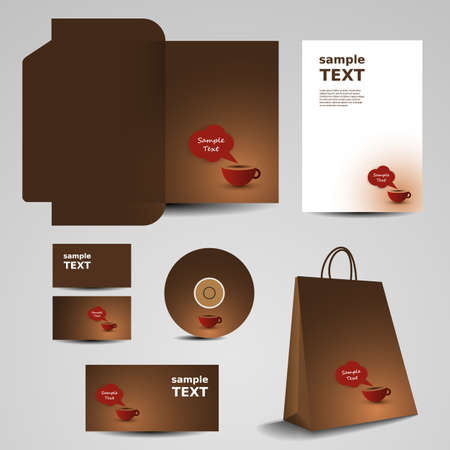 coffee bag: Stationery template design - business set