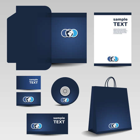 folder icons: Stationery template design - business set