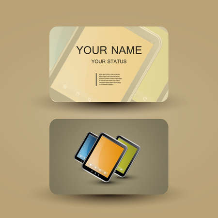Business Card Template Stock Vector - 14046698