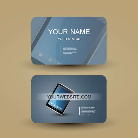 Business Card Template Stock Vector - 14022205