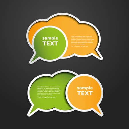 talking bubble: Colorful Labels, Tags, Speech Bubbles