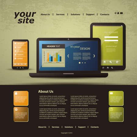 Website Template Stock Vector - 14022210