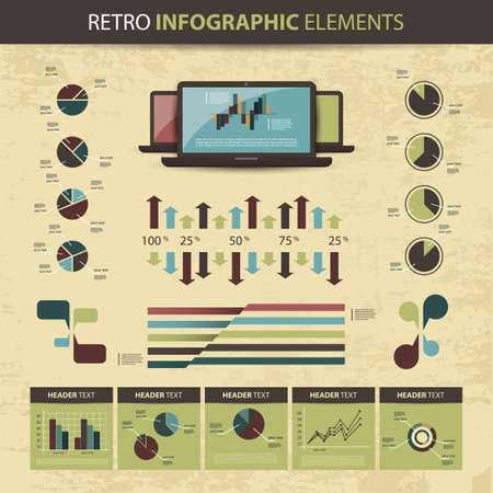 Retro set of infographic elements Stock Vector - 14122500