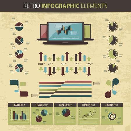 Retro set of infographic elements Stock Vector - 14122500