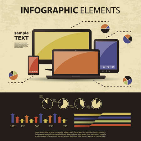 computer graphic design: Vector set of infographic elements