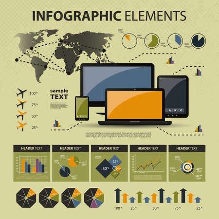 visualize: Vector set di elementi infographic