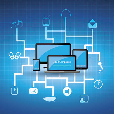 infrastructures: Cloud computing concept Illustration