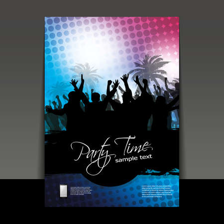 disco background: Flyer or Cover Design - Party Time