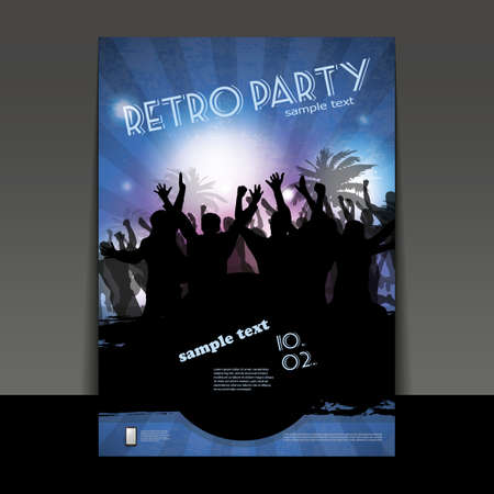 rave party: Flyer o cubierta - Party Time