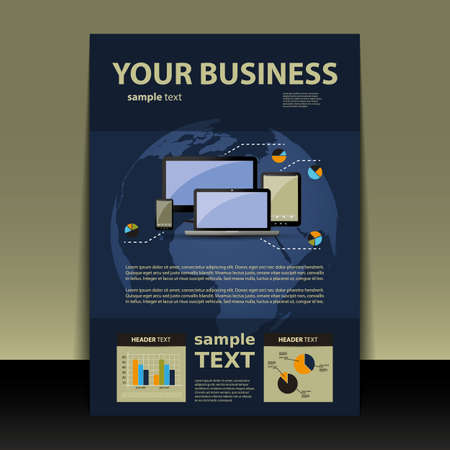 Flyer or Cover Design - Business Vector