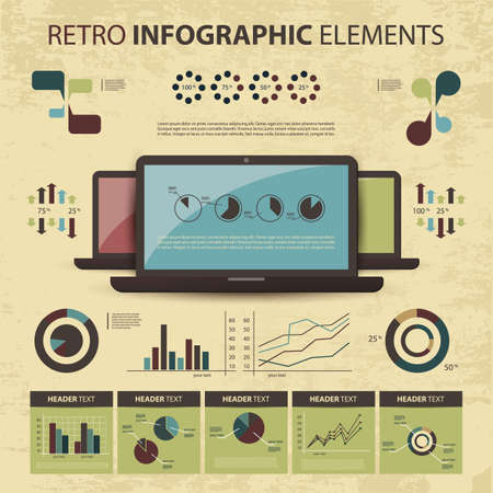 set of infographic elements Stock Vector - 14287464