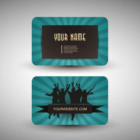 Retro Business Card Template Stock Vector - 14352651