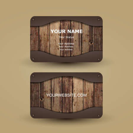 brand name: Business Card Template Illustration
