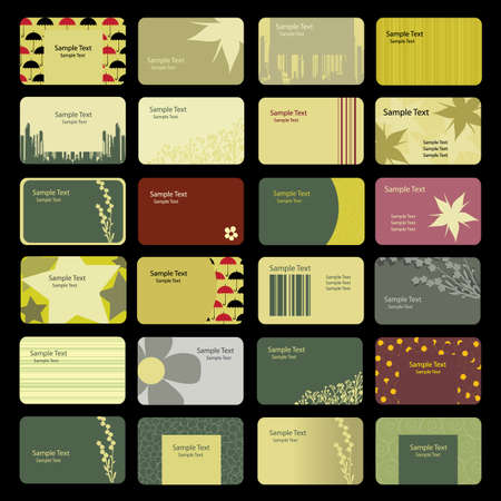 24 Colorful Business Card Backgrounds  Vector