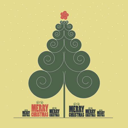 christmas backdrop: Retro Christmas Card
