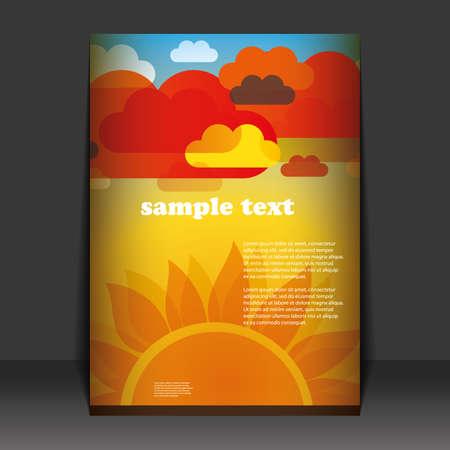 leaflet design: Flyer design Illustration