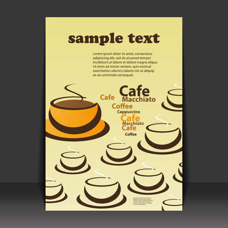 Flyer design - coffee cups Vector