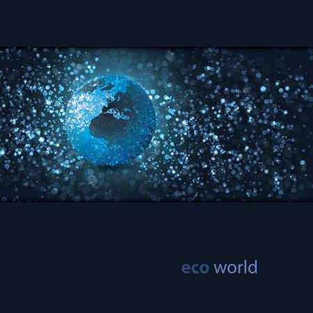 Eco Earth Globe Design  Vector