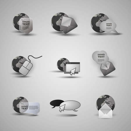 Collection Of Website Elements, Icons Vector