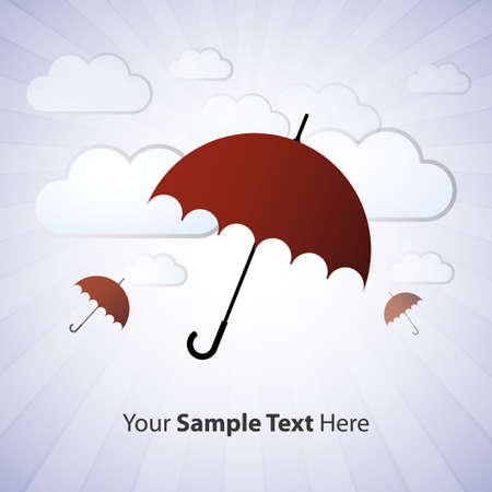 Umbrella in the clouds  Vector