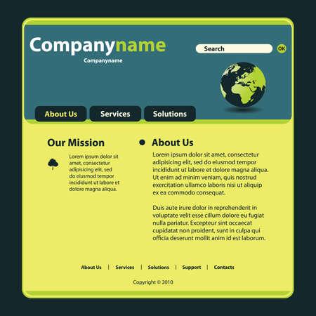 Website Template Stock Vector - 14399861