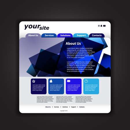 Website template Stock Vector - 14412581