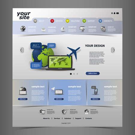 plantilla de sitio web: Sitio Web de plantillas Vectores