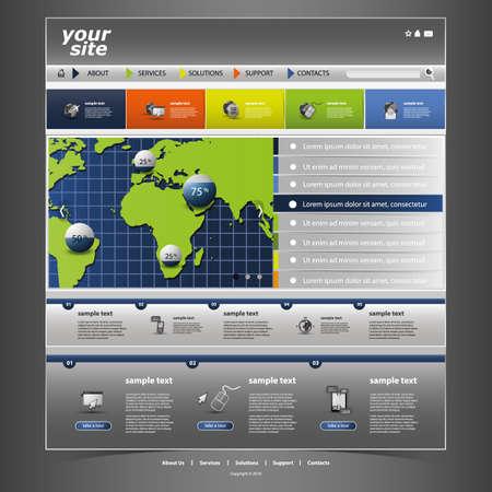 Website Template Stock Vector - 14604982